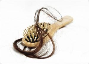 Hair in hairbrush