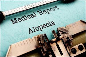 Typewriter writing alopecia
